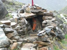 """""""charan paduka"""". It is believed that in an earlier age Vishnu had put his foot here and hence the name."""