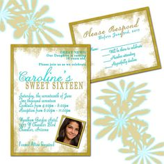 Check out this item in my Etsy shop https://www.etsy.com/listing/524547173/sweet-16-formal-birthday-invitations-and