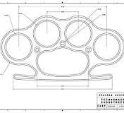 Brass+knuckles+knuckle+duster++plans+templates+designs+how