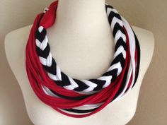 Disney 101 Dalmatians - Cruella de Vil Inspired Jersey Infinity Scarf Necklace