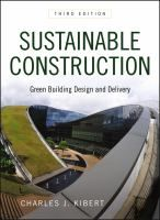 Sustainable Construction: Green Building Design and Delivery, 3rd Edition by Charles J. Kibert. From green building and Green Globes assessments to building hydrological systems and materials and product selection, this comprehensive text covers all of the factors involved with sustainable construction.