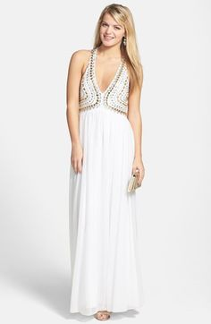 7abb315309f Sequin Hearts Embellished Bodice Gown (Juniors) available at  Nordstrom