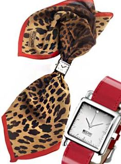 #chronowatchco Moschino, Print Scarf Watch