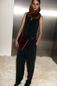 Celine pre-fall 2012. Seeing a fur theme.