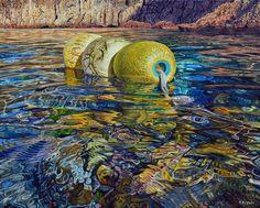 Mark Cross - New Zealand Born contemporary realist artist Nz Art, Mark Cross, Deep Sea, Summer Colors, Urban Art, New Zealand, Watercolour, Beaches, November