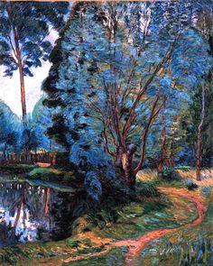 Paysage Boise à l'étang, Armand Guillaumin