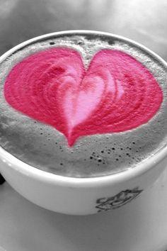 Pink Heart Latte