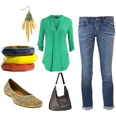 """Cute Spring Outfit paired with our favorite new flat the Earthies """"Bindi""""!"""