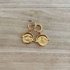 Lunar Eye Hoops sm Personalized Items, Eyes, Earrings, Ear Rings, Stud Earrings, Ear Piercings, Ear Jewelry, Cat Eyes, Beaded Earrings Native