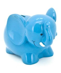 Loving this Blue Elephant Bank on #zulily! #zulilyfinds