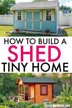 How to turn a shed into a tiny house - A shed house is a great way to ge into tiny living without spending a fortune. Shed tiny homes rang - Cheap Tiny House, Shed To Tiny House, Tiny House Storage, Building A Tiny House, Tiny House Cabin, Building A Shed, Tiny House On Wheels, Tiny Guest House, Guest House Plans