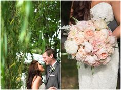 This bouquet was blush to the max! peonies, garden roses, veronica, and hydrangea. Swoon!