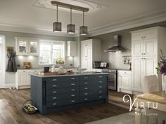 elegance   HERITAGE - Natural Ivory Ash Timber & Midnight Ocean Ash Timber ....................................................... With our paintable Heritage Ash Timber door you can have a high quality kitchen in refined colours to express your personal style. By combining painted doors & drawers with different handles, feature doors, decorative pillars and cornices you can achieve a truly classic look. Create your perfect combination with our Painted Colours. #TheArtOfLiving #VirtuKitchens