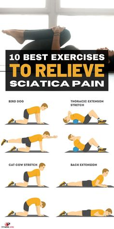 Sciatica Stretches, Sciatica Pain Relief, Knee Pain Relief, Arthritis Exercises, Leg Pain, Back Pain, Fun Workouts, At Home Workouts, Nerve Pain