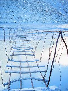 A bridge in Hunza in northern #Pakistan