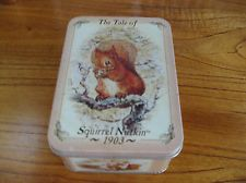 BEATRIX POTTER Collectors Tin tale of Squirrel Nutkin 1903 pictures CUTE