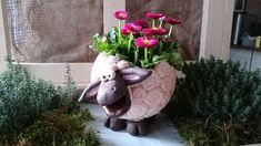 Grosses+weisses+Schaf+Keramik+von+Landei-Keramik+auf+DaWanda.com