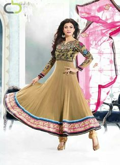 Beige Anarkali from Cbazaar