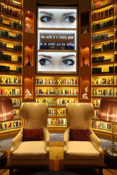 The library on the Celebrity Reflection!