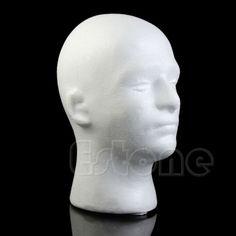 Male-Styrofoam-Mannequin-Manikin-Foam-Head-Model-Glasses-Hat-Wig-Display-Stand