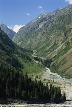 The Ala-Archa Canyon in the Tien Shan mountains in Kyrgyzstan, Central Asia.