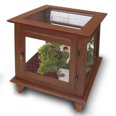 End table reptile cage - great for small species.