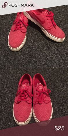 Nike SB Janoski's Red with white polka dots Nike Shoes Sneakers