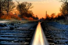 Train Tracks in Mount Clemens, MI by John Carlos Cruz