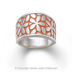I think they made this just for me. Spring flowers and a splash of ORANGE. Enamel Spring Blossom Ring from James Avery