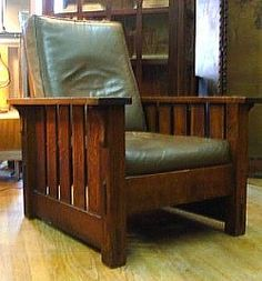 A Morris Chair made by Gustave Stickley. Not just a great example of American design, an example of true craftsmanship.