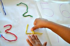 Fun yarn crafts, art, and learning activities for kids. Great for a y is for yarn preschool theme. Fine Motor Activities For Kids, Pre K Activities, Motor Skills Activities, Classroom Activities, Kids Motor, Numbers Preschool, Preschool Themes, In Kindergarten, Preschool Activities