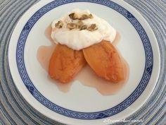 Κυδώνια στο φούρνο με γιαούρτι – Kidonia sto furno me jaourti Gestern habe ich bei meinem Obsthändler Quitten entdeckt und habe mich spontan für dieses leckere Dessert entschieden. Es versüßt…