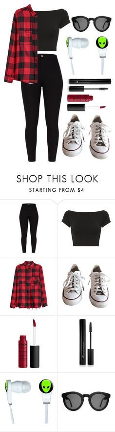 """do you remember when we were young?"" by nerdgirl-dork ❤ liked on Polyvore featuring Helmut Lang, Converse, NYX, Forever 21, Crap, contestentry and NYFWPlaid"