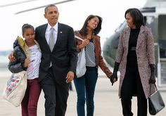 President Barack Obama, First Lady Michelle Obama and their daughters Malia and Sasha