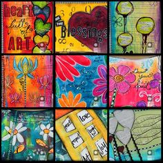 9 X 12 art journal by Tracy Weinzapfel