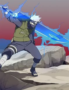 Kakashi looks so cool with the sword! » Naruto
