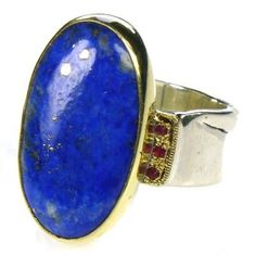 The wrinkled band: Silver 925, Gold k18, lapis lazuli, rubies
