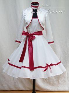 Nr. 1    Zauberhaftes 50er Jahre Kleid    Die Satinbänder können in fast jeder anderen Farbe gefertigt werden!!!  Teile mir nach dem Kauf Deine Wunschfarbe ...