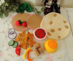 Felt Food Felt Mexican Tortilla Set Eco friendly by decocarin