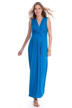 Seraphine Jo Knot Front Maxi Maternity Dress in Seaside. We have 31 new arrival products this week. Please use coupon code NewProducts to receive 15% off these items. To receive the discount, please place your order by midnight Monday, February 22, 2016