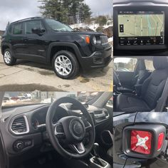 2018 'Black' Jeep Renegade North 4x4.  BLUETOOTH. NAV. BACKUP CAM. HTD SEATS. Stock 18144.  Click pic for more info.