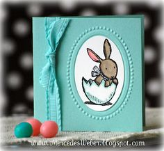 Creations by Mercedes: Last Chance for SAB! | Everybunny mini-card ensemble.  Pool Party, Wisteria Wonder,Pretty in Pink
