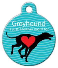 Greyhound Love Pet ID Tag for Dogs and Cats - Dog Tag Art -- Details can be found by clicking on the image. (This is an affiliate link and I receive a commission for the sales) Pet Dogs, Dog Cat, Most Beautiful Dogs, Dog Anxiety, Custom Tags, Dog Id Tags, Unique Animals, Cat Collars, Love Pet