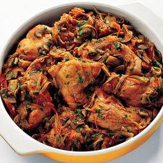 Recipe for Rabbit Cacciatore Italian Soup Recipes, Italian Dishes, Meat Recipes, Cooking Recipes, Rabbit Recipes, Game Recipes, Dinner Recipes, Rabbit Stew, One Pot Dinners