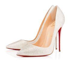 CHRISTIAN LOUBOUTIN So Kate Glitter Mini 120 Ivory Glitter - Women Shoes - Christian Louboutin. #christianlouboutin #shoes #