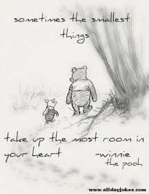Sometimes the smallest things take up the most room in your heart. ~Winnie the Pooh.  ♥♡Grandson ♡♥