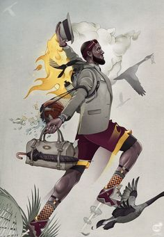 LeBron James Migration Illustration