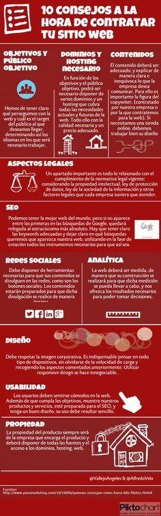 10 consejos a la hora de contratar tu sitio web #infografia #marketing