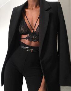 """Hem Tarz Hem Trend 😍 via Mode Outfits, Night Outfits, Classy Outfits, Chic Outfits, Trendy Outfits, Fashion Outfits, Womens Fashion, Badass Women Fashion, Fashion Clothes"