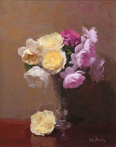 "Dennis Perrin  ""Garden Roses"""